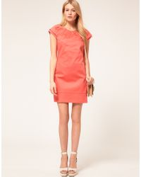 Oasis | Pink Double Sleeve Detail Shift Dress | Lyst