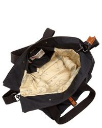 Ally Capellino | Black Navy Waxed Cotton Timothy Bag for Men | Lyst