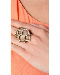 Bing Bang - Metallic Witches Heart Ring - Lyst