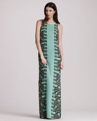 Kelly Wearstler - Green Cadenza Georgette Maxi Dress - Lyst