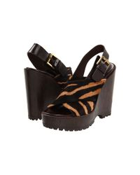 Michael Kors | Multicolor Tiger-Striped Wedges | Lyst