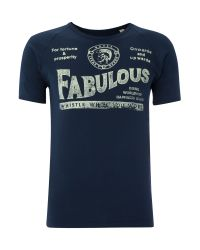 DIESEL | Blue Fabulous Tshirt for Men | Lyst