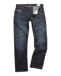 DIESEL | Blue Diesel Larkee 73n Straight Jeans for Men | Lyst