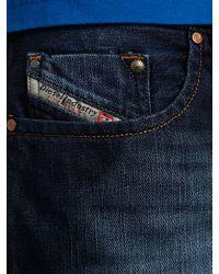 DIESEL | Blue Diesel Larkee 8j4 Straight Jeans for Men | Lyst