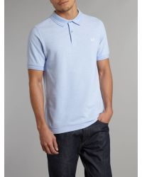 Fred Perry | Gray Pin Dot Short Sleeve Polo Shirt Grey White for Men | Lyst