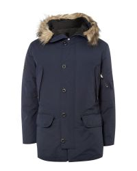 GANT | Blue Beacher Down Parka Navy for Men | Lyst