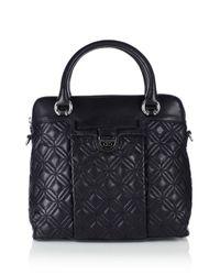 Karen Millen | Black Quilted Cross Body Bag | Lyst