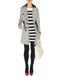 Karen Millen | Black Block Stripe Knit Dress | Lyst