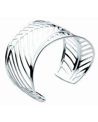 Kit Heath | Metallic Sterling Silver Applique Leaf Cuff | Lyst