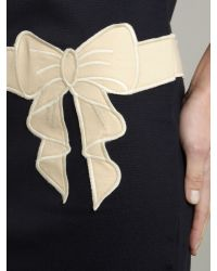 Love Moschino | Blue Drop Waist Contrast Bow Dress | Lyst