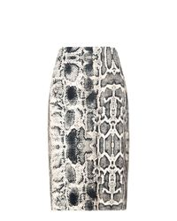 Mango | Multicolor Snake Print Pencil Skirt | Lyst