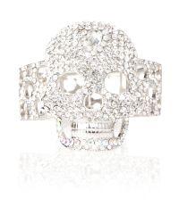 Mikey | Gray Crystal Skull Bracelet | Lyst