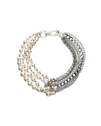 Mimco | Gray Twisted Lionheard Choker Necklace | Lyst