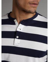 Polo Ralph Lauren | Blue Striped Long-sleeve Henley T-shirt for Men | Lyst