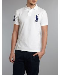 Polo Ralph Lauren | White Slim Fit Big Pony Polo Shirt for Men | Lyst