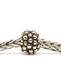 Trollbeads - Gray Berry Silver Charm Bead - Lyst