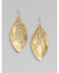 Alexis Bittar | Metallic Swarovski Crystal Accented Lucite Leaf Drop Earrings | Lyst