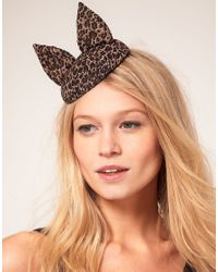 ASOS Brown Cat Ears Fascinator Hat