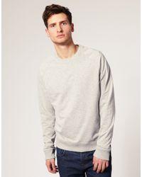 ASOS Collection | Gray Asos Raglan Crew Neck Sweat Shirt for Men | Lyst