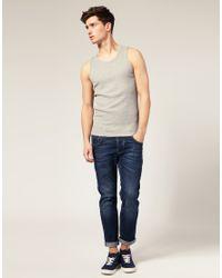ASOS | Gray Rib Vest for Men | Lyst