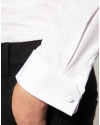 ASOS Collection - White Asos Slim Fit Cutaway Collar Shirt for Men - Lyst