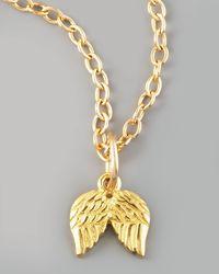 Dogeared - Metallic Angelwing Charm - Lyst