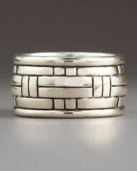 John Hardy | Metallic Bedeg Band Ring for Men | Lyst