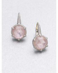 Judith Ripka | Motherofpearl Pink Crystal Doublet Earrings | Lyst