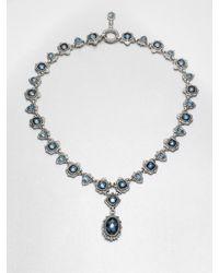 Konstantino | Blue Enamel Accented Semiprecious Multistone Pendant Necklace | Lyst