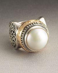 Konstantino - White Pearl Ring Large - Lyst
