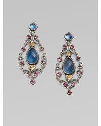 Konstantino | Blue Semiprecious Multistone Chandelier Earrings | Lyst