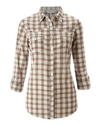 Linea Weekend | Beige Checked Shirt | Lyst