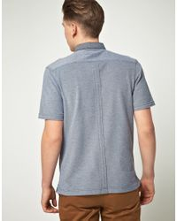 Fred Perry - Blue Plain Cotton Polo Shirt for Men - Lyst