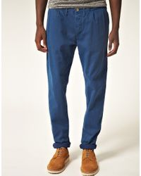 Paul Smith - Blue Paul Smith Jeans Double Pleat Tapered Chino for Men - Lyst
