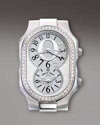 Philip Stein   Metallic Diamond Bezel Limited Edition Oprah Watch Head   Lyst