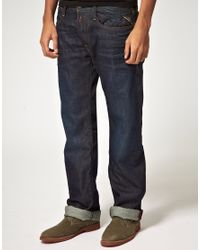 Replay | Billstrong Straight Leg Jeans Rinse Blue for Men | Lyst