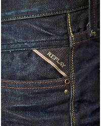 Replay - Billstrong Straight Leg Jeans Rinse Blue for Men - Lyst