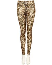 TOPSHOP - Brown Leopard Print Leggings - Lyst