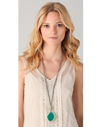 Chan Luu - Green Agate Pendant Necklace - Lyst