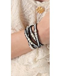 Chan Luu | White Beaded Wrap Bracelet | Lyst