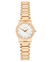 DKNY | Metallic Rose Gold Bracelet Watch | Lyst