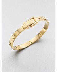 Michael Kors | Metallic Rivet Accented Buckle Bangle Bracelet | Lyst