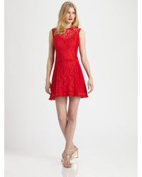 Nanette Lepore | Red Sunset Boulevard Shift Dress | Lyst