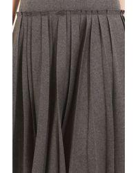 Oscar de la Renta | Gray Drop Waist Flannel Dress | Lyst