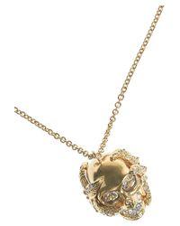 Alexander McQueen - Metallic Skull and Starfish Swarovski Crystal Necklace - Lyst