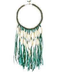 Antik Batik | Green Elias Tasseled Suede Necklace | Lyst