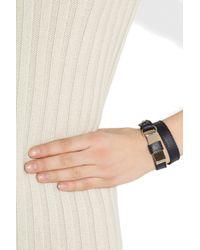 Chloé - Blue Lily Leather and Brass Wrap Bracelet - Lyst
