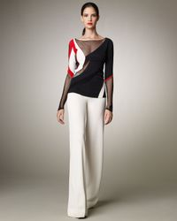 Donna Karan | White Wide-leg Pull-on Pants | Lyst