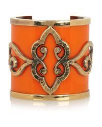 Emilio Pucci | Orange Goldplated Plexiglass Cuff | Lyst