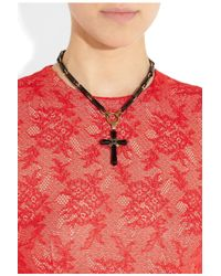 Emilio Pucci - Black Necklace Cross - Lyst